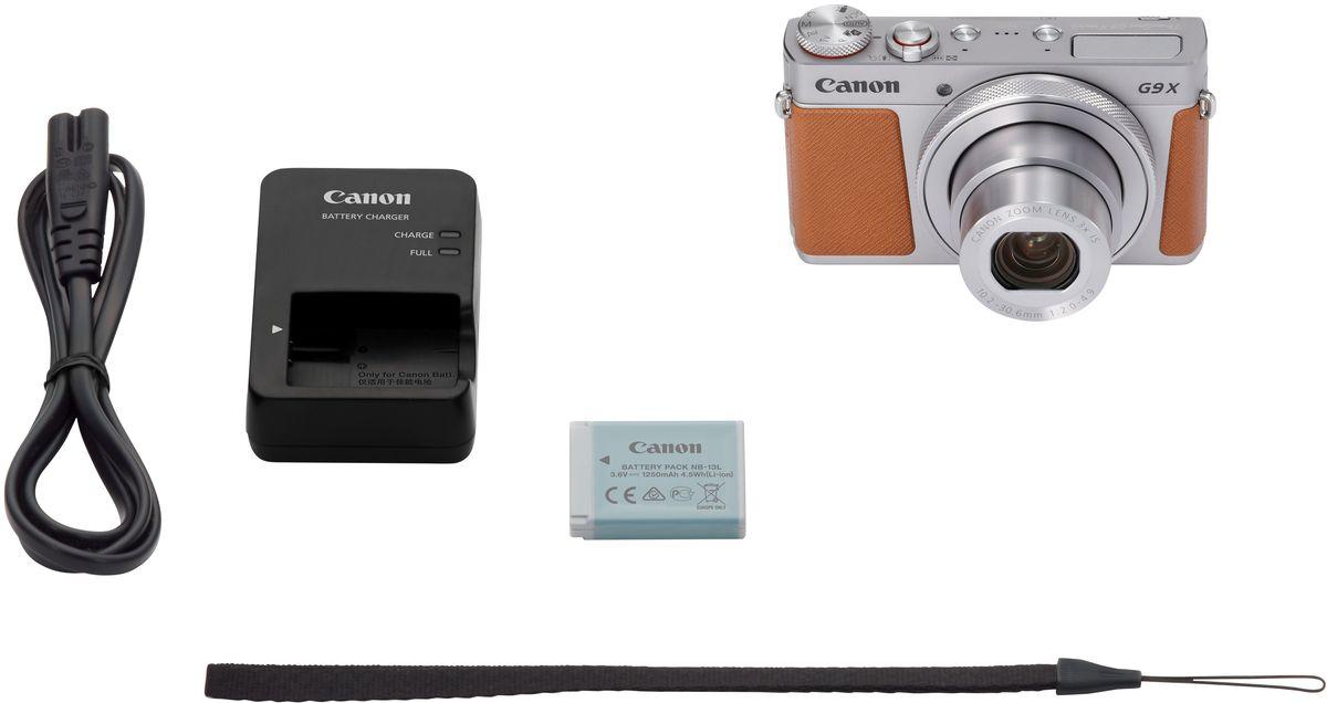 Компактный фотоаппарат Canon PowerShot G9 X Mark II, Silver Canon