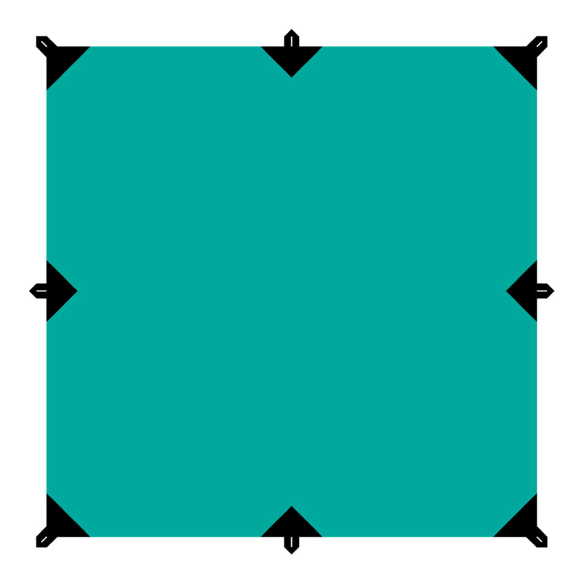 Тент Tramp, цвет: зеленый, со стойками и оттяжками, 3 х 3 м цена