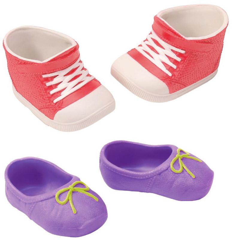 цены Baby Born Ботиночки для кукол цвет сиреневый розовый белый 2 пары