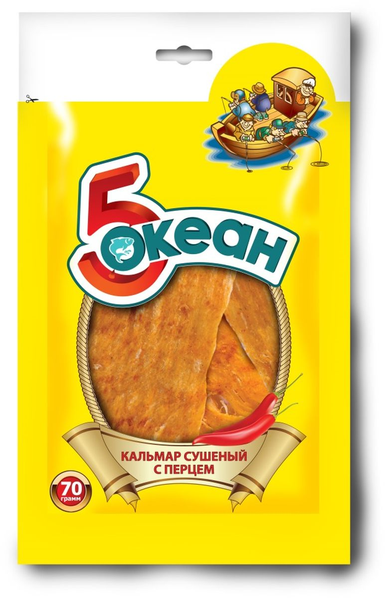 5 Океан кальмар с перцем, 70 г