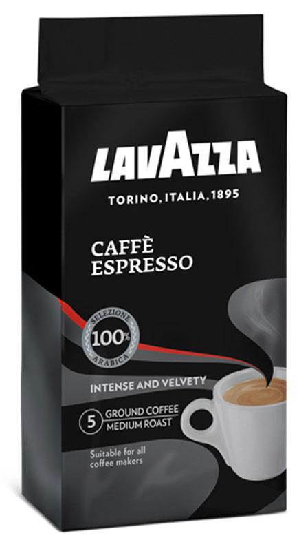 Lavazza Caffe Espresso кофе молотый, 250 г (в/у) lavazza caffe espresso 1000 beans эспрессо зерно вакуумная упаковка