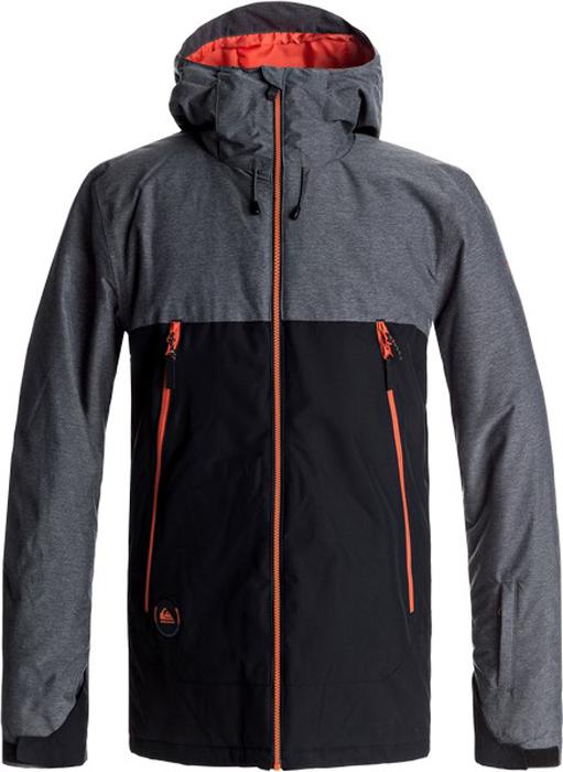 Купить Куртка мужская Quiksilver Sierra, цвет: черный, серый. EQYTJ03124-KVJ0. Размер S (46) на XWAP.SU