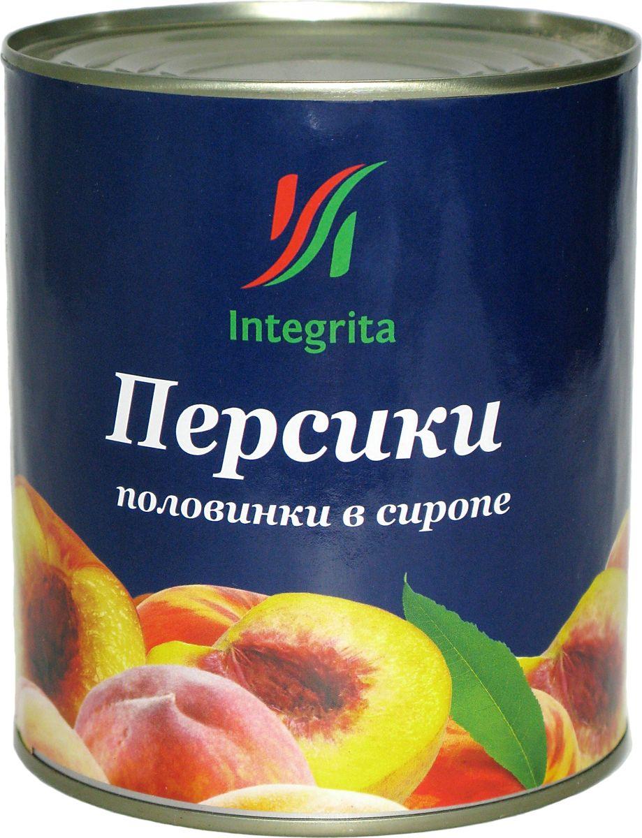 Integrita персики в сиропе половинками, 820 г integrita x5 10tb black