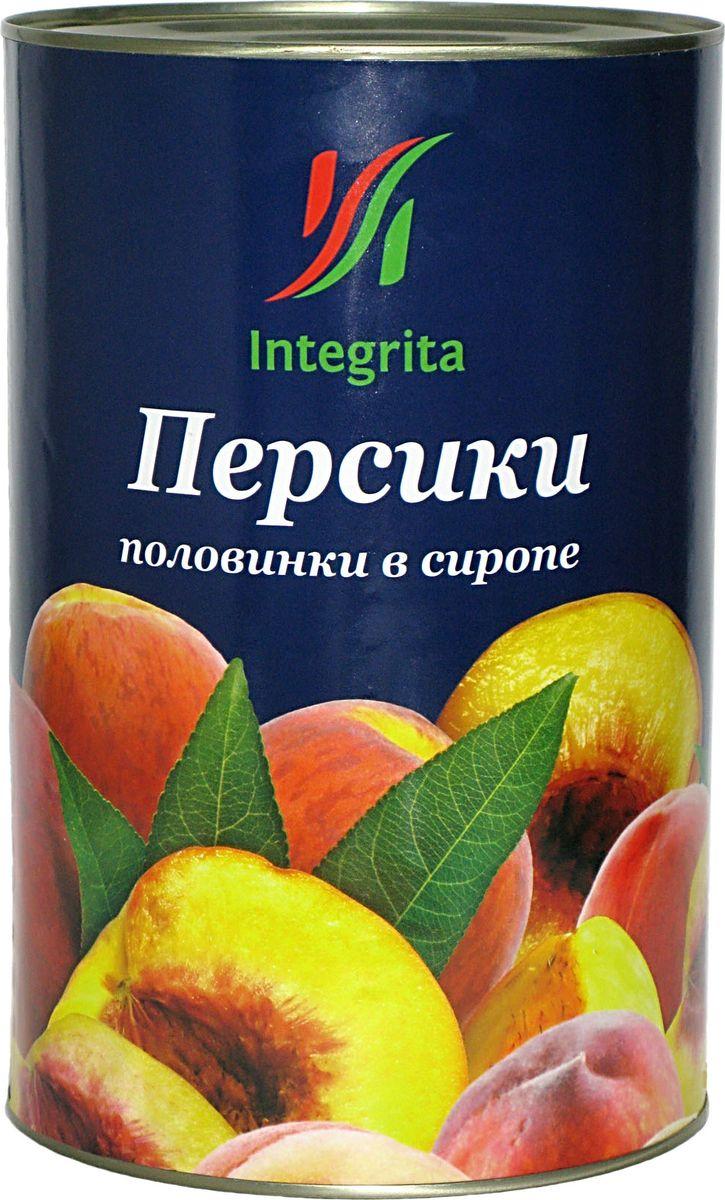 Integrita персики в сиропе половинками, 3 кг integrita x5 10tb black
