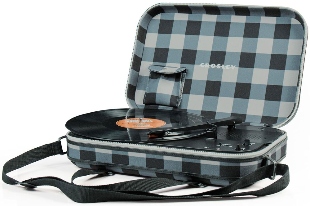 лучшая цена Проигрыватель виниловых дисков Crosley Messenger, Blue Grey