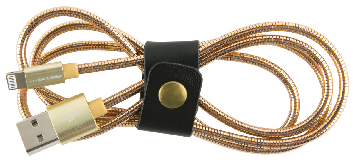Red Line S7, Gold кабель Lightning-USB (1 м) red line ут000014153 pink кабель usb lightning 2 м