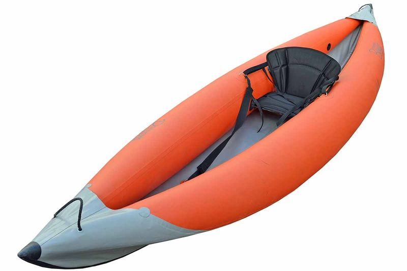 Каркасно надувная байдарка Вольный ветер Варяг 370, цвет: оранжевый