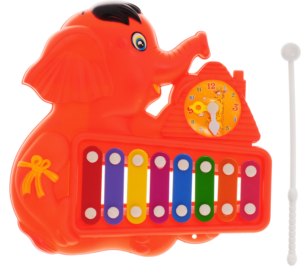 Veld-Co Металлофон Слоник цвет красный детский музыкальный инструмент djeco металлофон кот 06002
