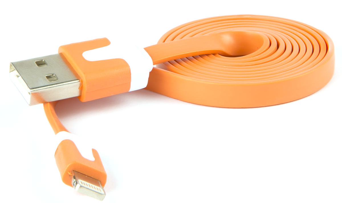 Red Line, Orange кабель Lightning-USB (1 м) red line smart high speed usb orange кабель lightning usb 1 м