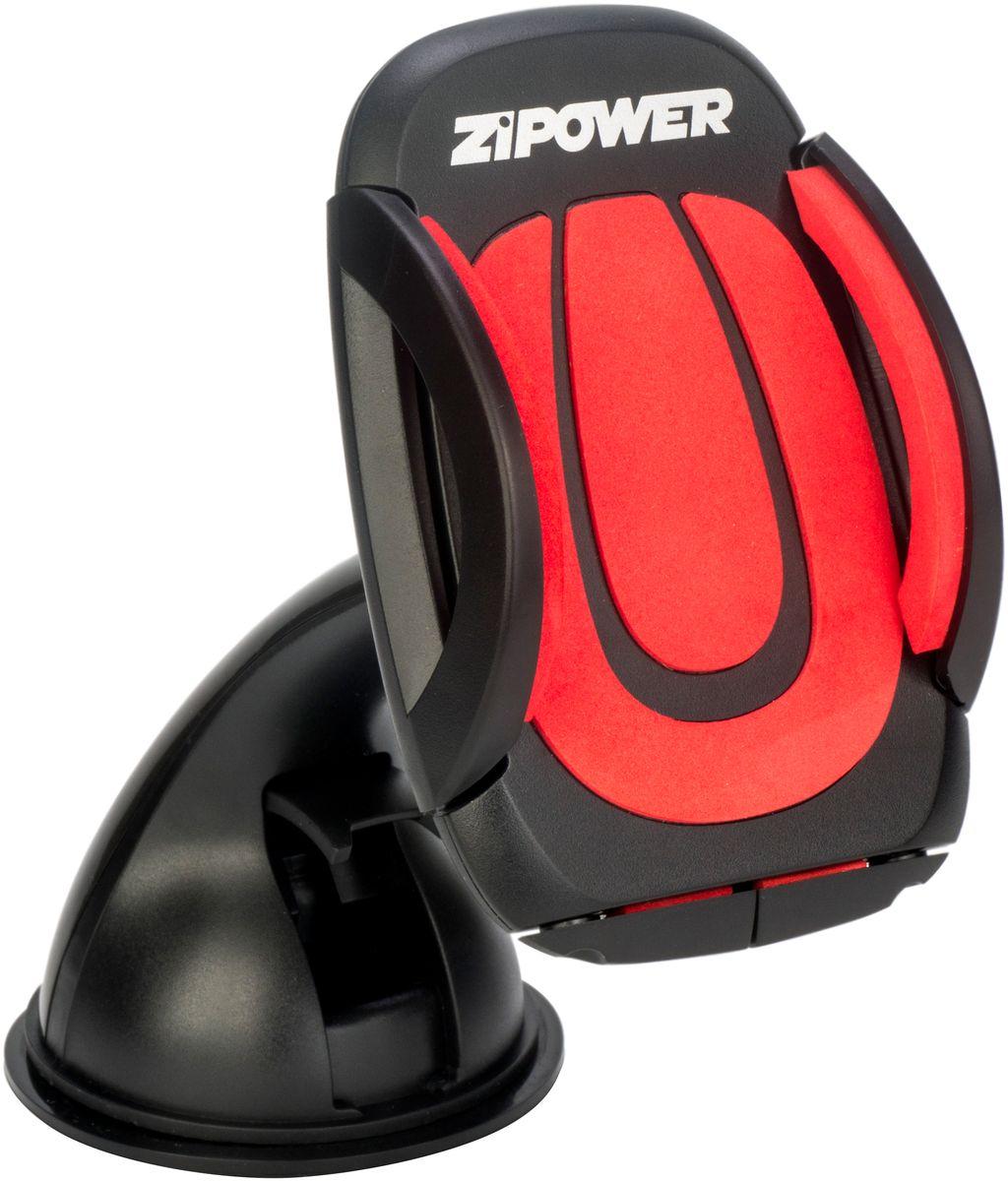 Держатель автомобильный Zipower, для телефона, на присоске. PM 6624 автомобильный держатель zipower pm 6623 черный