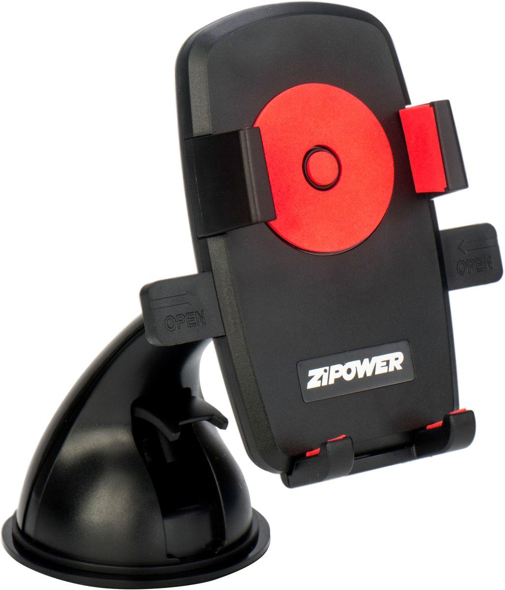 Держатель автомобильный Zipower, для телефона, 50-80 мм. PM 6627 держатель автомобильный zipower для телефона 50 80 мм pm 6627
