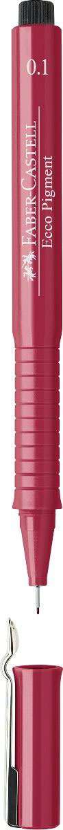 Faber-Castell Ручка капиллярная Ecco Pigment 0.1 цвет чернил красный 166121 ручка капиллярная faber castell ecco pigment 166799 0 7мм черные чернила