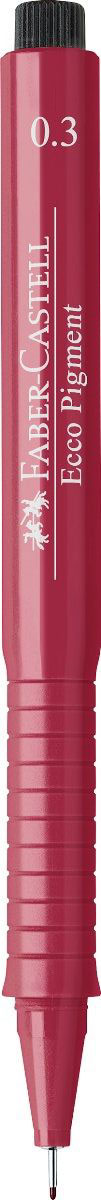 Faber-Castell Ручка капиллярная Ecco Pigment 0.3 цвет чернил красный 166321 ручка капиллярная faber castell ecco pigment 166799 0 7мм черные чернила