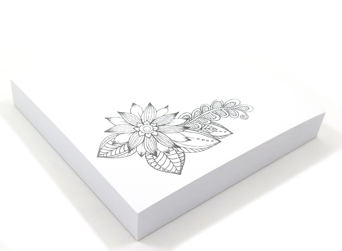 Фолиант Блок для записей Антистресс Цветок 13 х 13 см 200 листов БКА-200/2 Фолиант