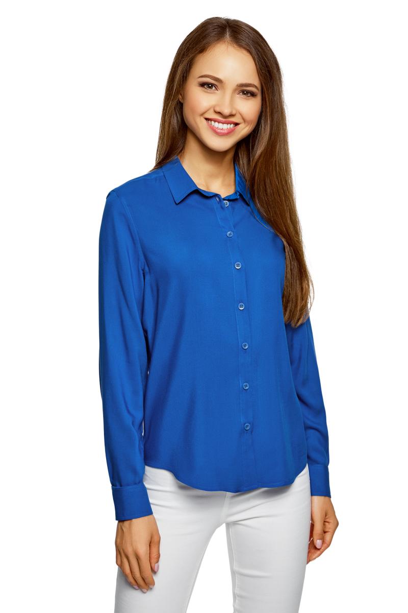 Блузка oodji Ultra блузка женская oodji ultra цвет темно синий белый 11411098 3 24681 7912g размер 40 46 170