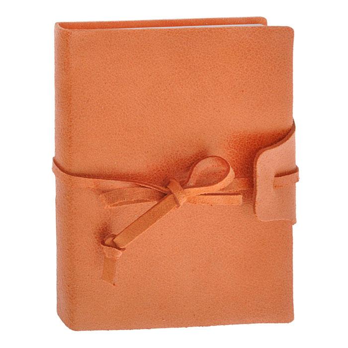 Brunnen Тетрадь Бижу на завязках 160 листов формат А6 цвет оранжевый