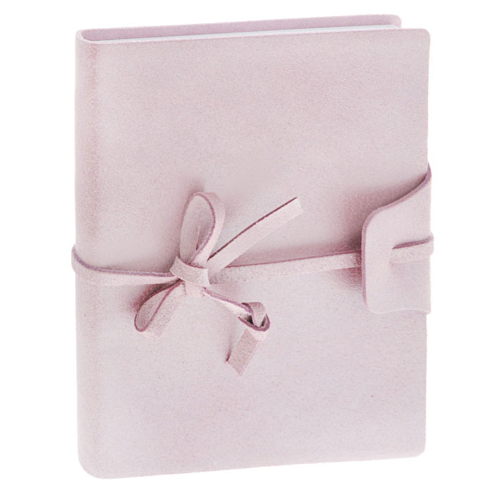 Brunnen Тетрадь Бижу на завязках 120 листов формат А6 цвет розовый