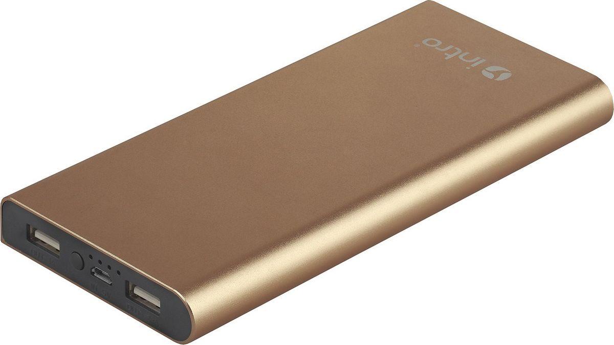 Фото - Intro Power Bank PB10, Gold внешний аккумулятор аккумулятор