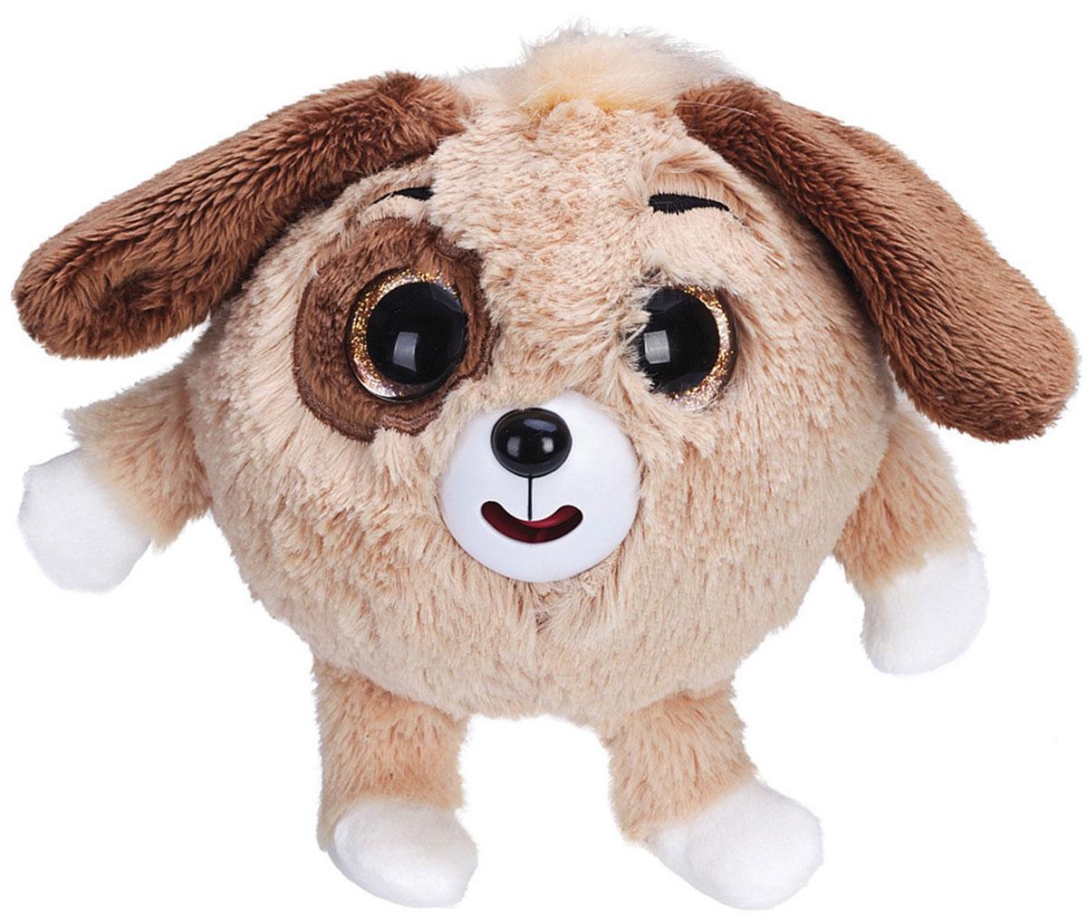 1TOY Мягкая озвученная игрушка Дразнюка-Zooка Собачка цвет коричневый 13 см 1toyмягкая озвученная игрушка дразнюка zoo лисичка 13 см