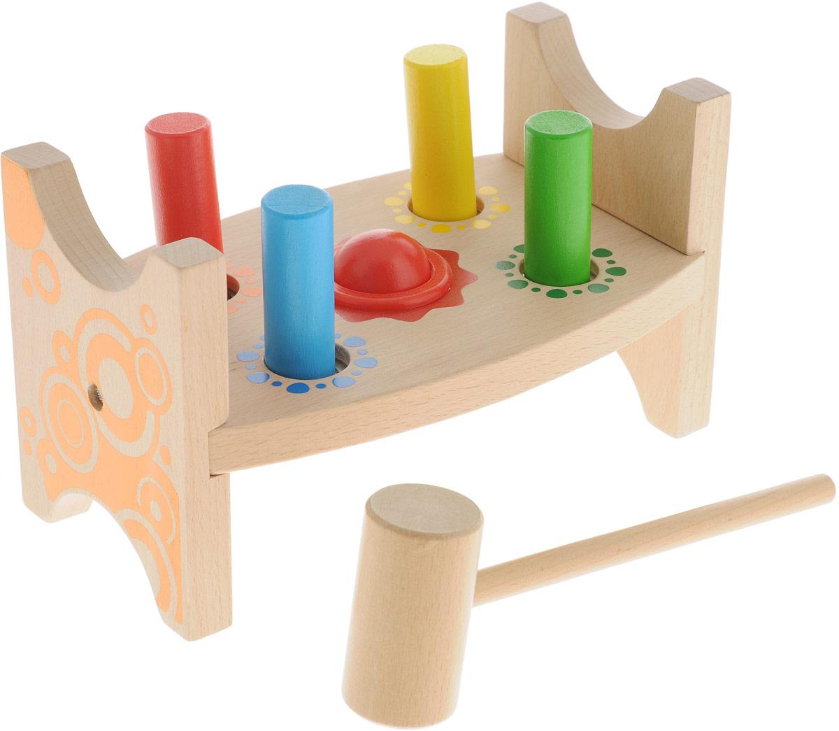 Мир деревянных игрушек Развивающая игрушка Стучалка Шарик и гвоздики развивающая игрушка мир детства зигзаг