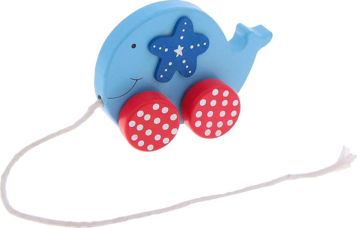 Sima-land Игрушка-каталка Синий кит мягкая игрушка sima land овечка на присосках 18 см 332770