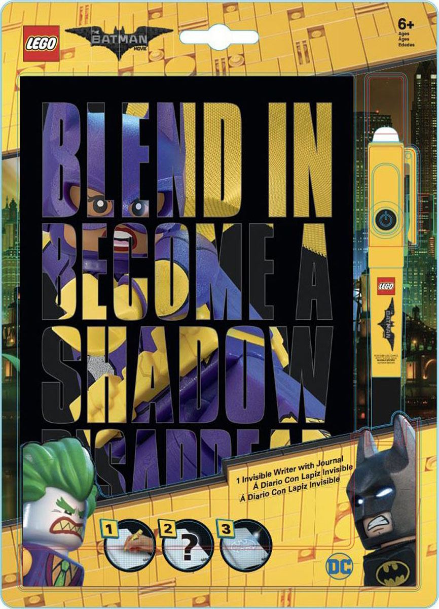 LEGO Batman Movie Блокнот Бэтгерл96 листов в линейку и ручка с фонариком