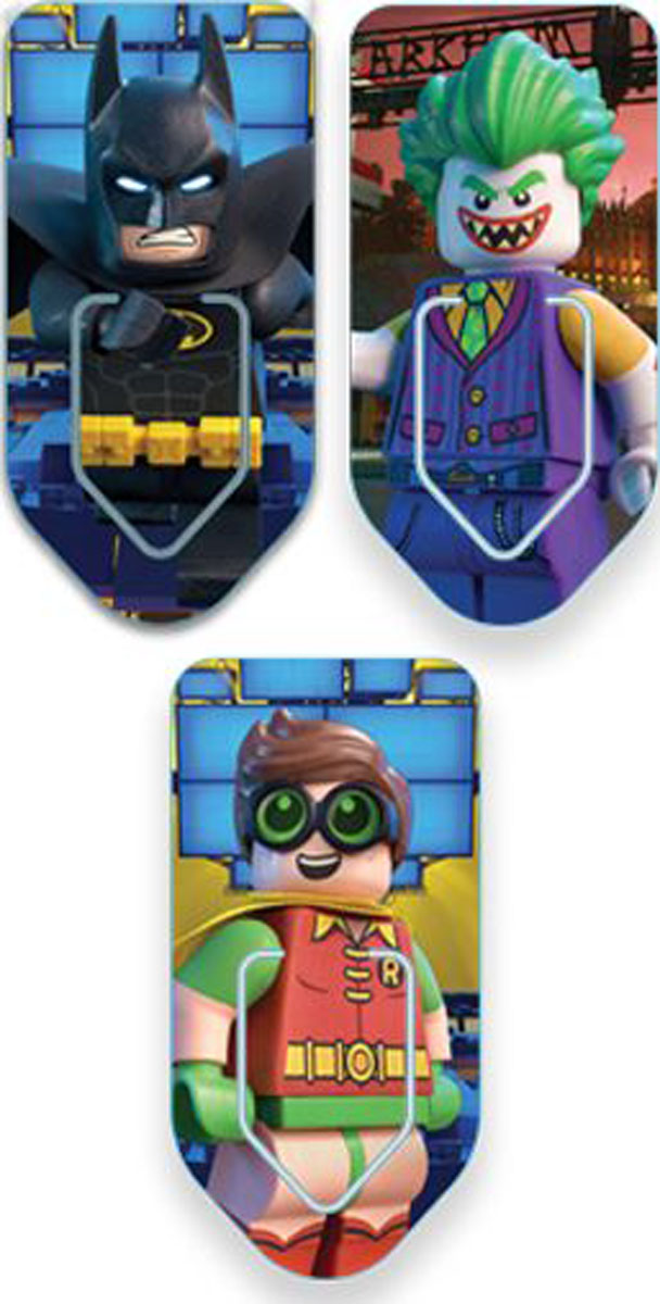 LEGO Набор закладок для книг Batman Movie 3 шт