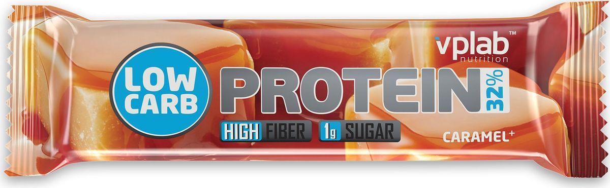 Батончик протеиновый Vplab Low Carb Protein Bar, карамель, 35 г цена