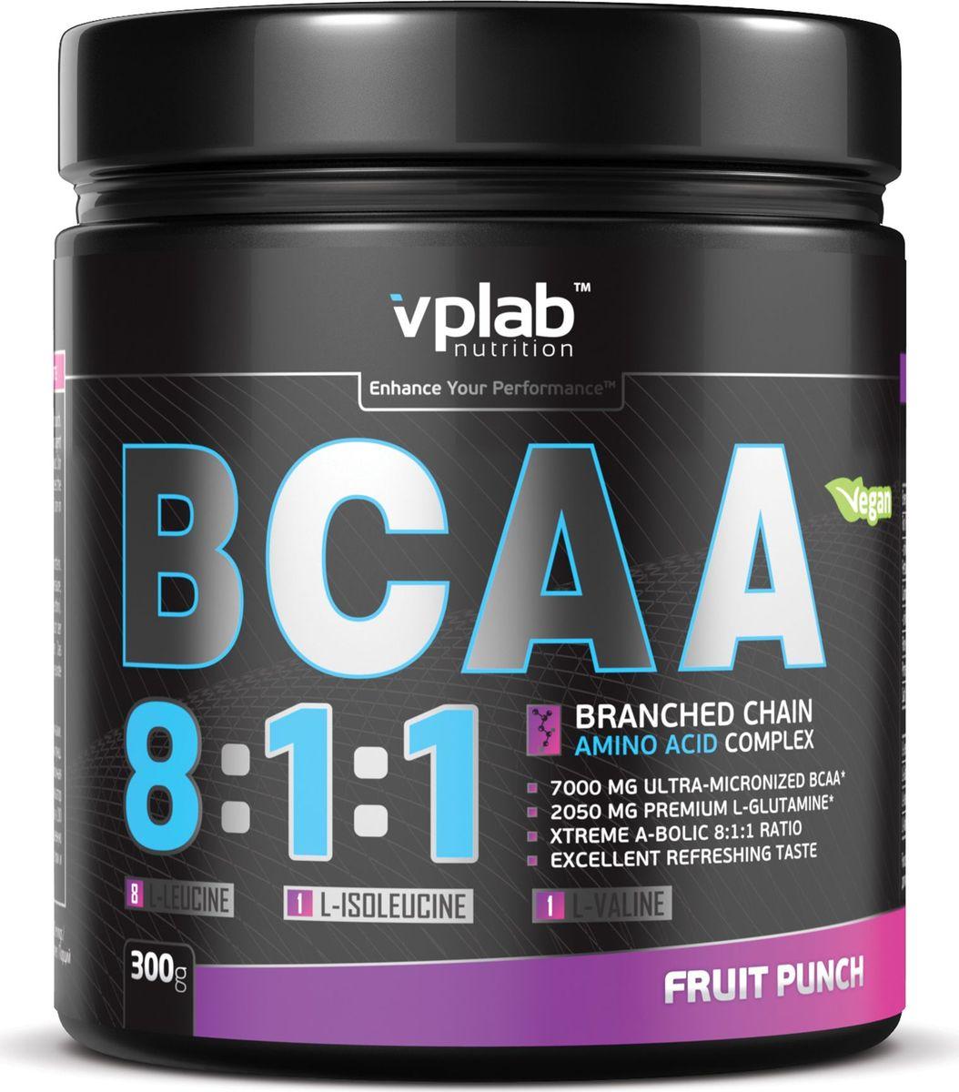 Аминокислоты Vplab BCAA 8:1:1, фруктовый пунш, 300 г athletic nutrition bcaa 300 г