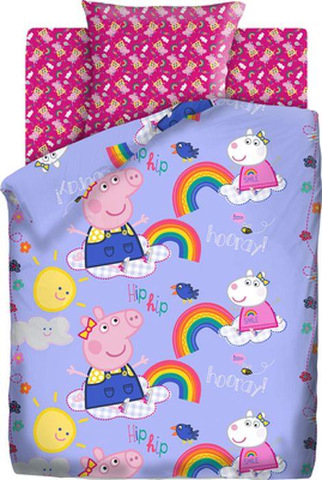 цена Комплект детского постельного белья Свинка Пеппа