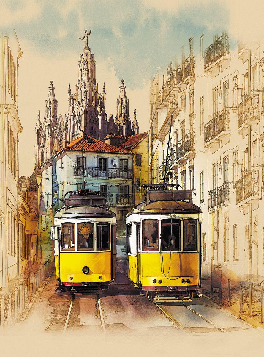 Фотообои флизелиновые Milan Желтый трамвайчик, текстурные, 2 х 2,7 м milan yohimbinum d4 5 мл возбуждающие капли на основе йохимбина
