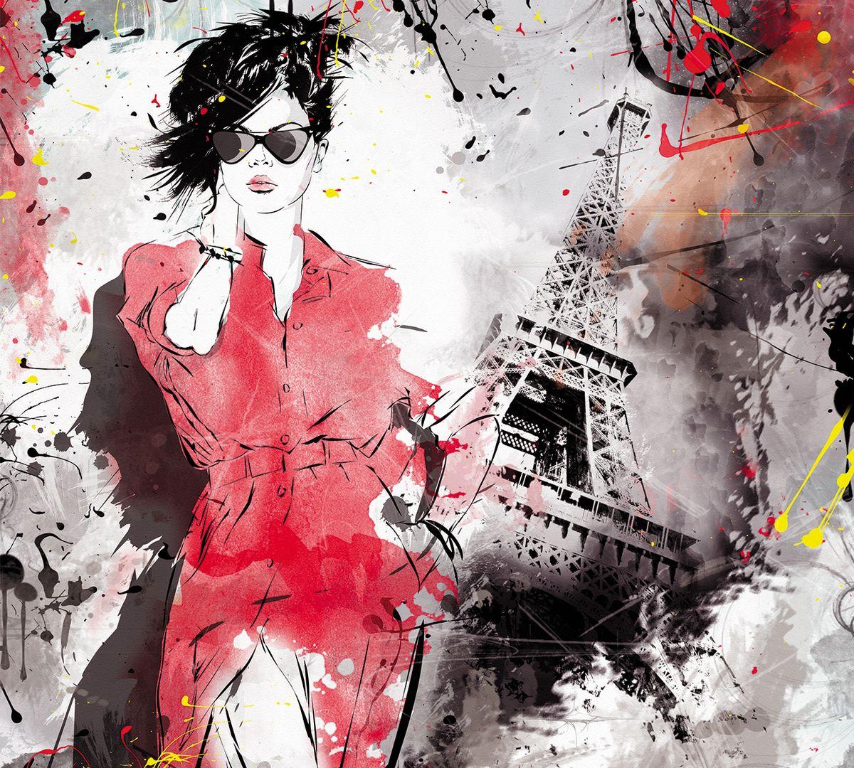 Фотообои флизелиновые Milan Прогулка в Париже, текстурные, 2 х 2,7 м milan yohimbinum d4 5 мл возбуждающие капли на основе йохимбина