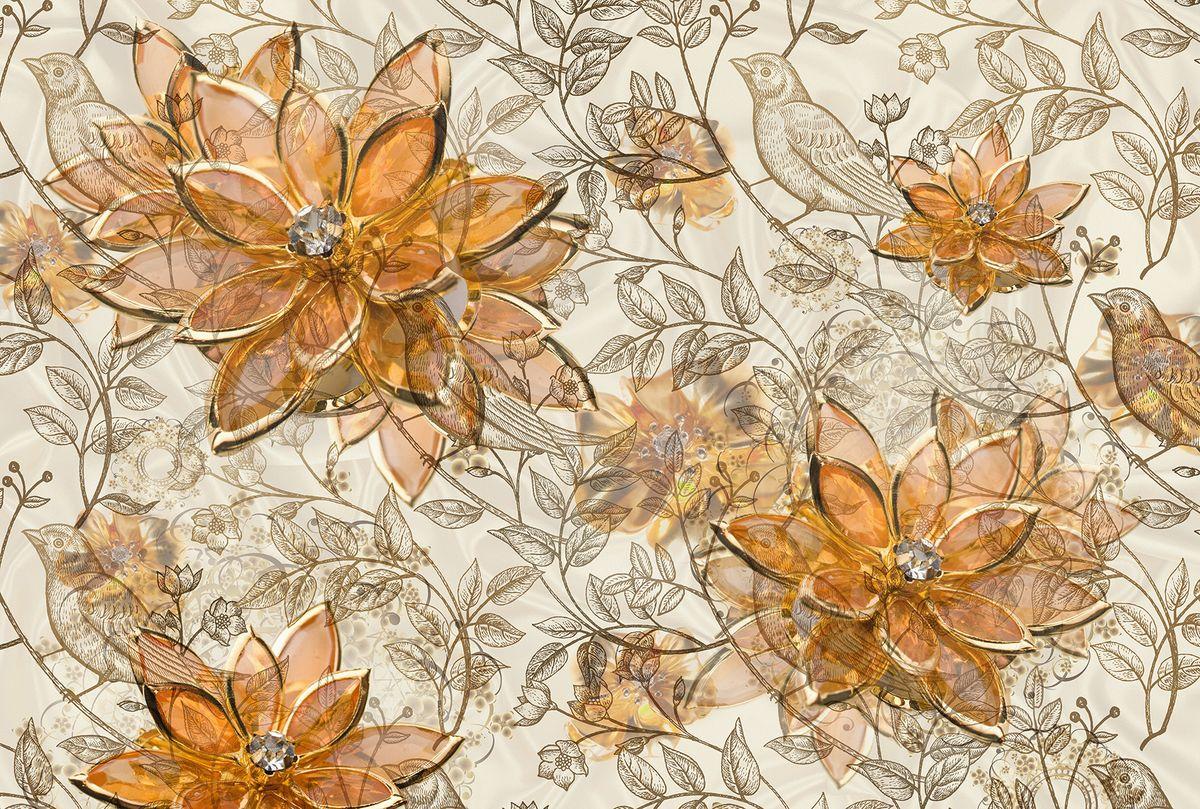 Фотообои флизелиновые Milan Драгоценный цветок, текстурные, 4 х 2,7 м milan yohimbinum d4 5 мл возбуждающие капли на основе йохимбина