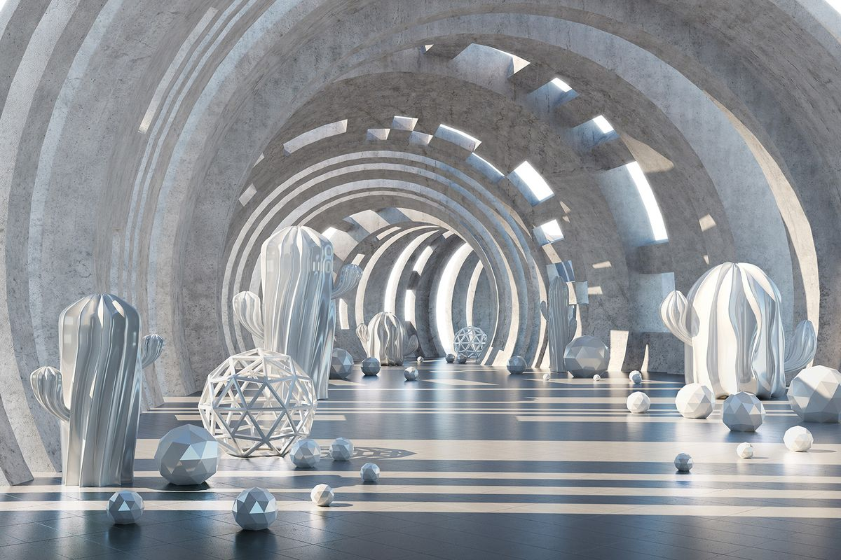 Фотообои флизелиновые Milan Тоннель времени, текстурные, 4 х 2,7 м milan yohimbinum d4 5 мл возбуждающие капли на основе йохимбина