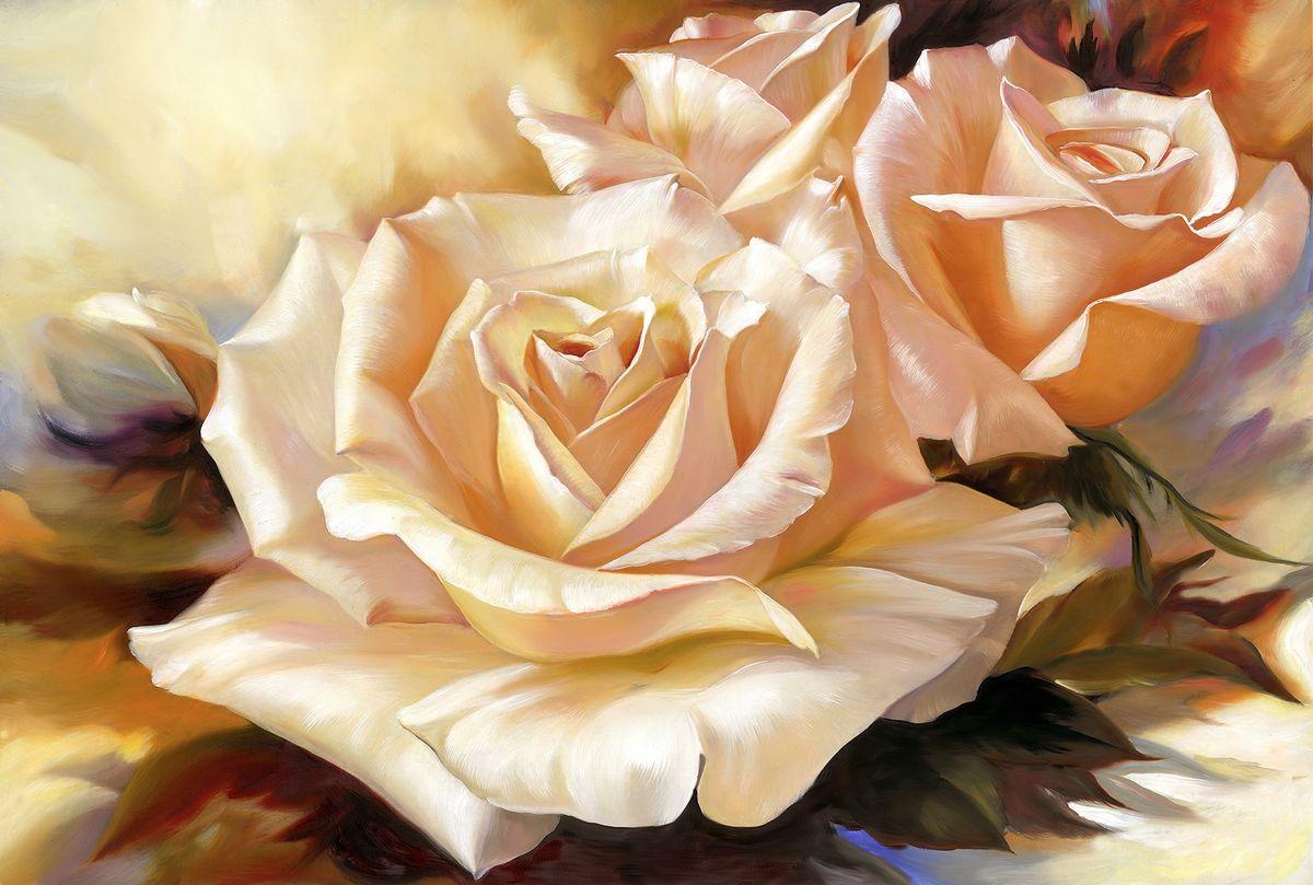Фотообои флизелиновые Milan Чайная роза, текстурные, 2 х 1,35 м milan yohimbinum d4 5 мл возбуждающие капли на основе йохимбина