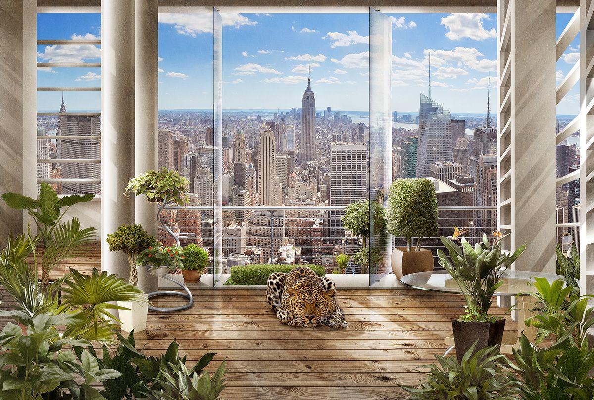 Фотообои флизелиновые Milan Утро в Нью-Йорке, текстурные, 2 х 1,35 м фотообои milan утро в лесу текстурные 200 х 135 см m 638