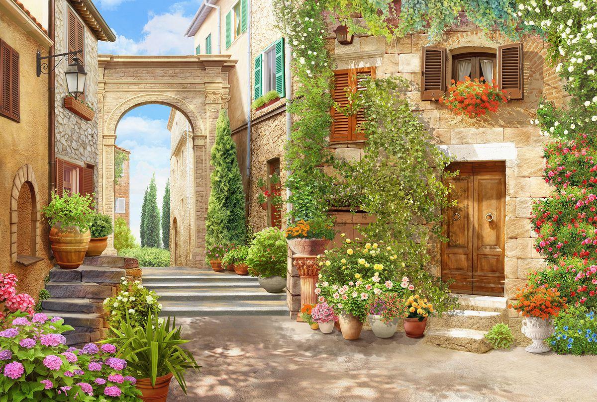 Фотообои флизелиновые Milan Итальянский дворик, текстурные, 3 х 2 м milan yohimbinum d4 5 мл возбуждающие капли на основе йохимбина