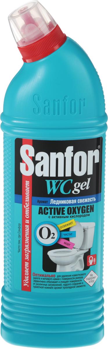 Средство для чистки туалета Sanfor Aсtive Oxygen, с активным кислородом, ледниковая свежесть, 750 г4602984012138Средство Sanfor Aсtive Oxygen с активным кислородом мгновенно удаляет застарелые пятна ржавчины, известковый налет, мочевой камень и грязь с поверхности унитазов. Убивает 99,9% микробов и уничтожает неприятные запахи. Товар сертифицирован. Как выбрать качественную бытовую химию, безопасную для природы и людей. Статья OZON Гид