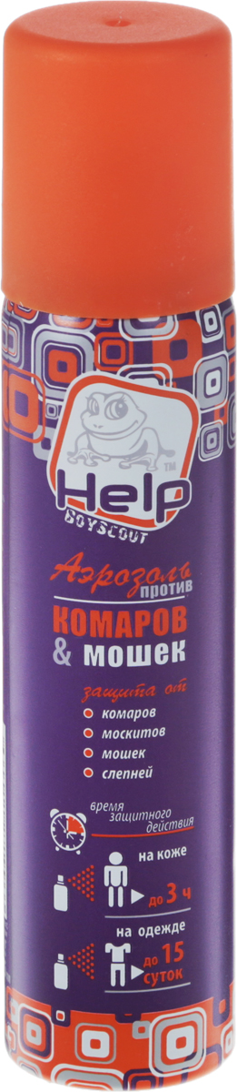 Средство от комаров и мошек Help, аэрозоль, 75 мл аэрозоль универсальный от насекомых инсектицидный 180мл help