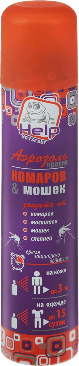 Средство от комаров и мошек Help, аэрозоль, 200 мл аэрозоль универсальный от насекомых инсектицидный 180мл help