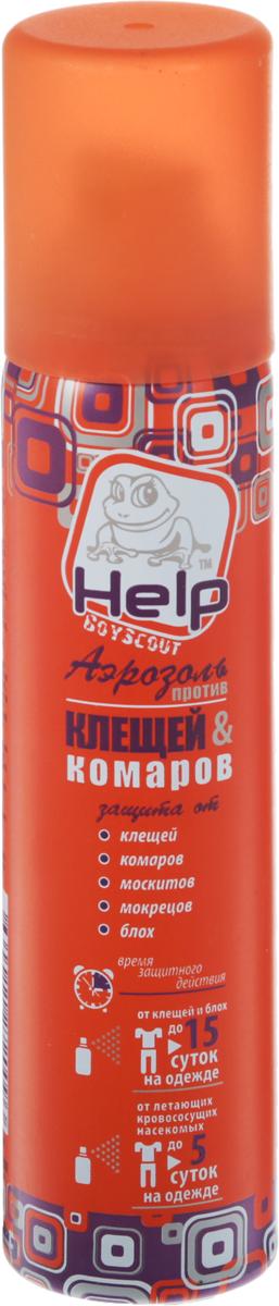 Средство от клещей и комаров Help, аэрозоль, 75 мл аэрозоль универсальный от насекомых инсектицидный 180мл help