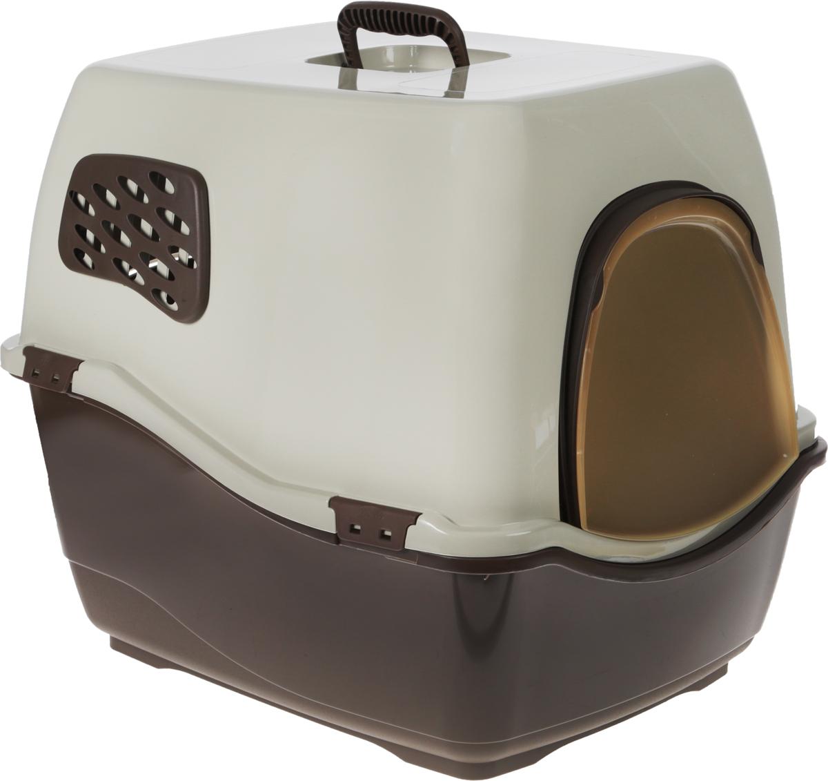 Био-туалет для кошек Marchioro Bill 2F, цвет: коричневый, бежевый, 57 х 45 х 48 см цена