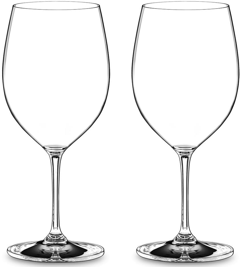 Набор фужеров для красного вина Riedel Vinum. Brunello, 590 мл, 2 шт набор фужеров riedel h2o whisky стекло 430 мл 2 шт в подарочной упаковке