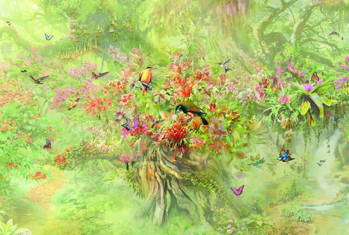 Фотообои флизелиновые Milan Райская птичка, текстурные, 2 х 2,7 м milan yohimbinum d4 5 мл возбуждающие капли на основе йохимбина