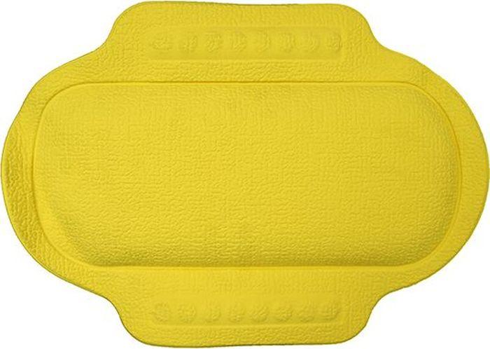 Подголовник для ванны Bacchetta, цвет: желтый, 25 х 34 см