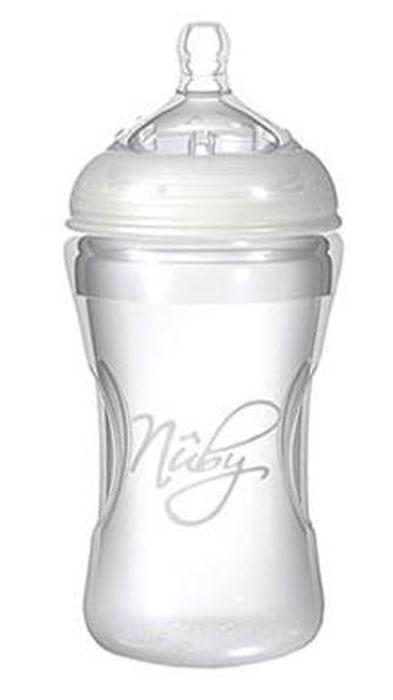 Бутылочка для кормления Nuby с антиколиковой системой, 330 мл, NT67018 nuby с ложечкой голубая