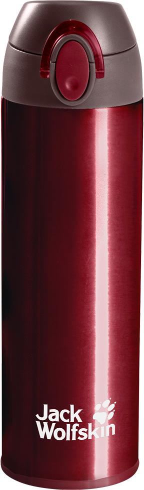 Термос Jack Wolfskin Thermolite Bottle 0,5, цвет: бордовый, 0,5 л. 8006041-2150 термос jack wolfskin thermo bottle grip 0 9 цвет черный 0 9 л 8000331 6000