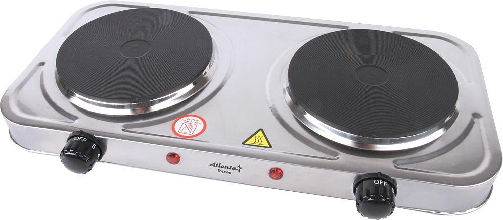 лучшая цена Настольная плита Atlanta ATH-1738, Silver электрическая