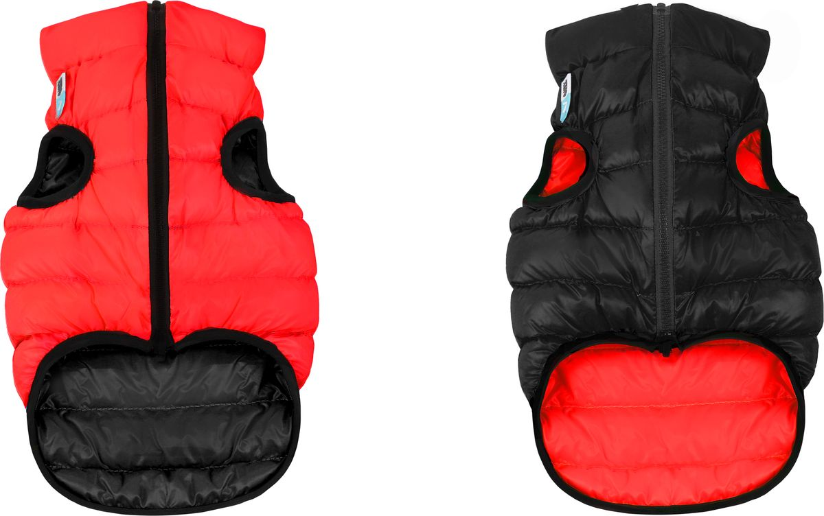 """Куртка для собак """"AiryVest"""", двухсторонняя, унисекс, цвет: красный, черный. Размер M (47)"""