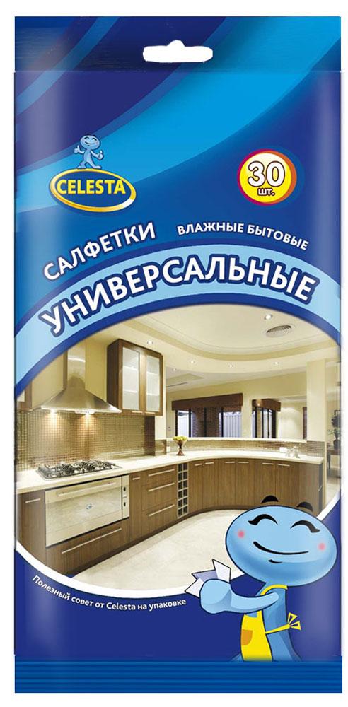 Салфетки влажные Celesta, универсальные, бытовые, 30 шт набор пластиковых мисок для супа celesta festival цвет белый 500 мл 12 шт